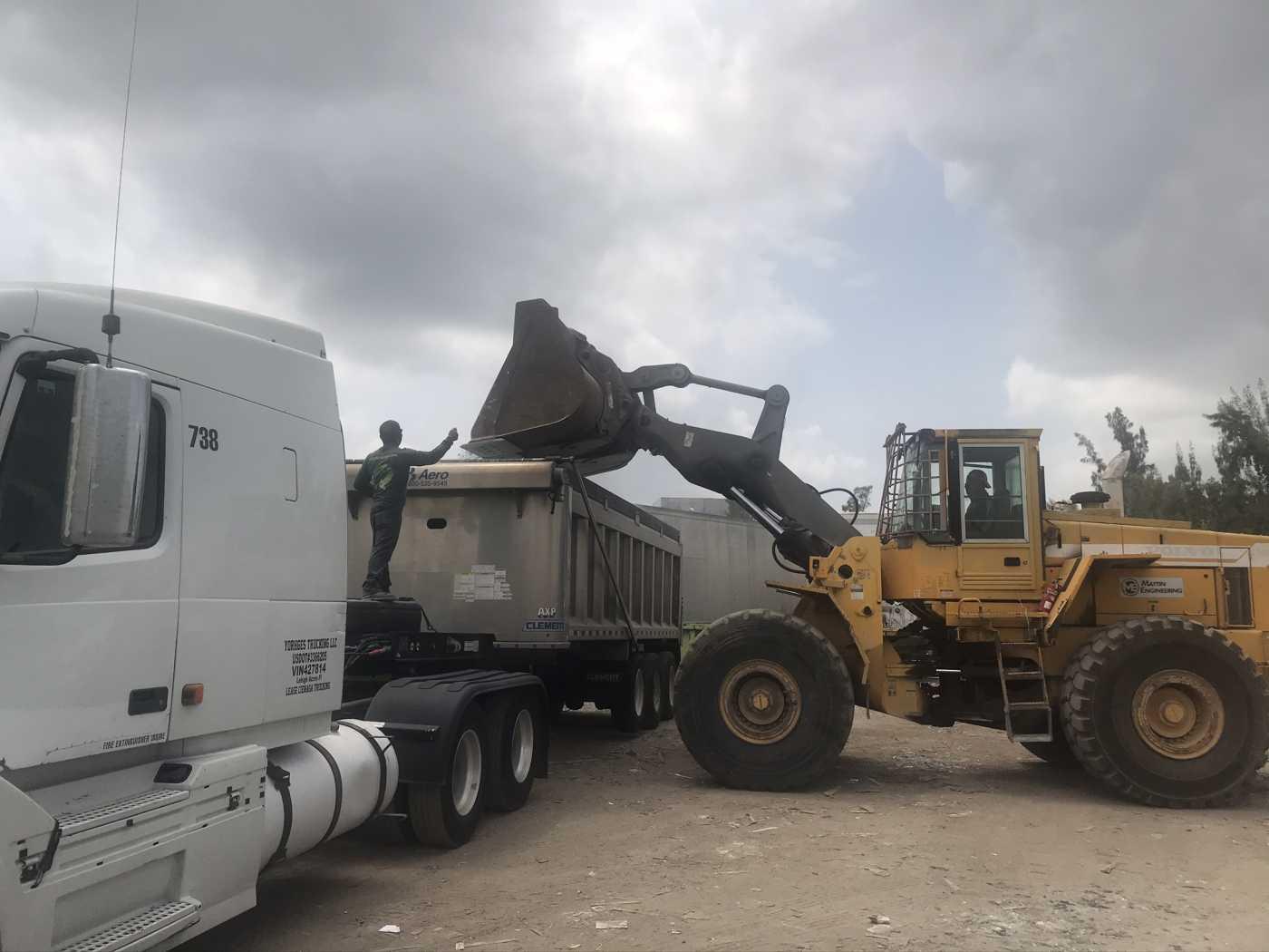 construction debris recycling facilities
